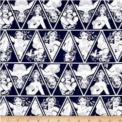 DC Comics Wonder Woman Triangles Navy