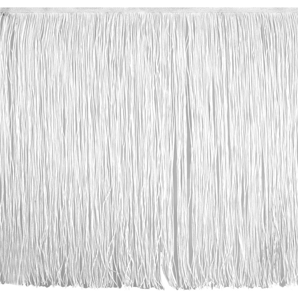 "18"" Chainette Fringe Trim White"