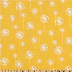 Premier Prints Small Dandelion Slub Yellow/White Fabric