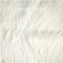 Luxury Faux Fur Fox Ivory