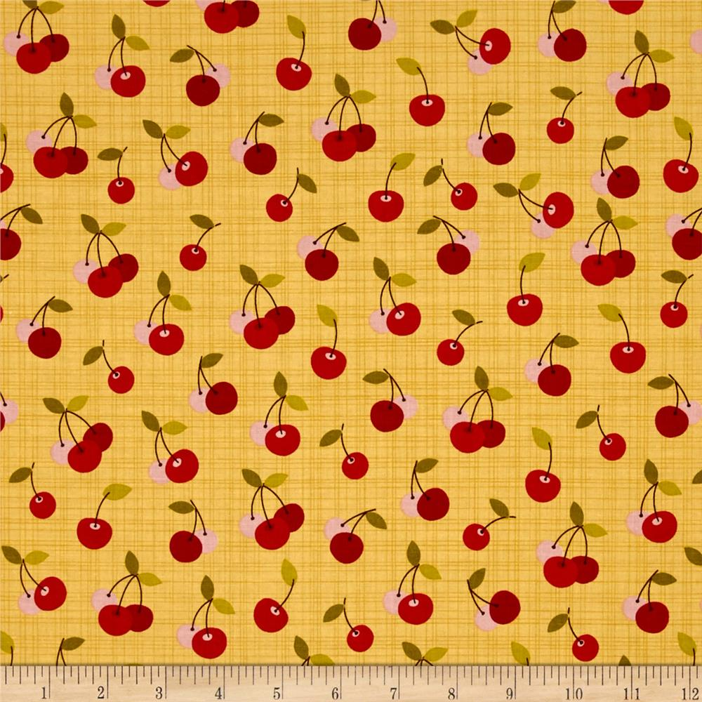 Riley Blake Farm Girl Cherry Pie Yellow
