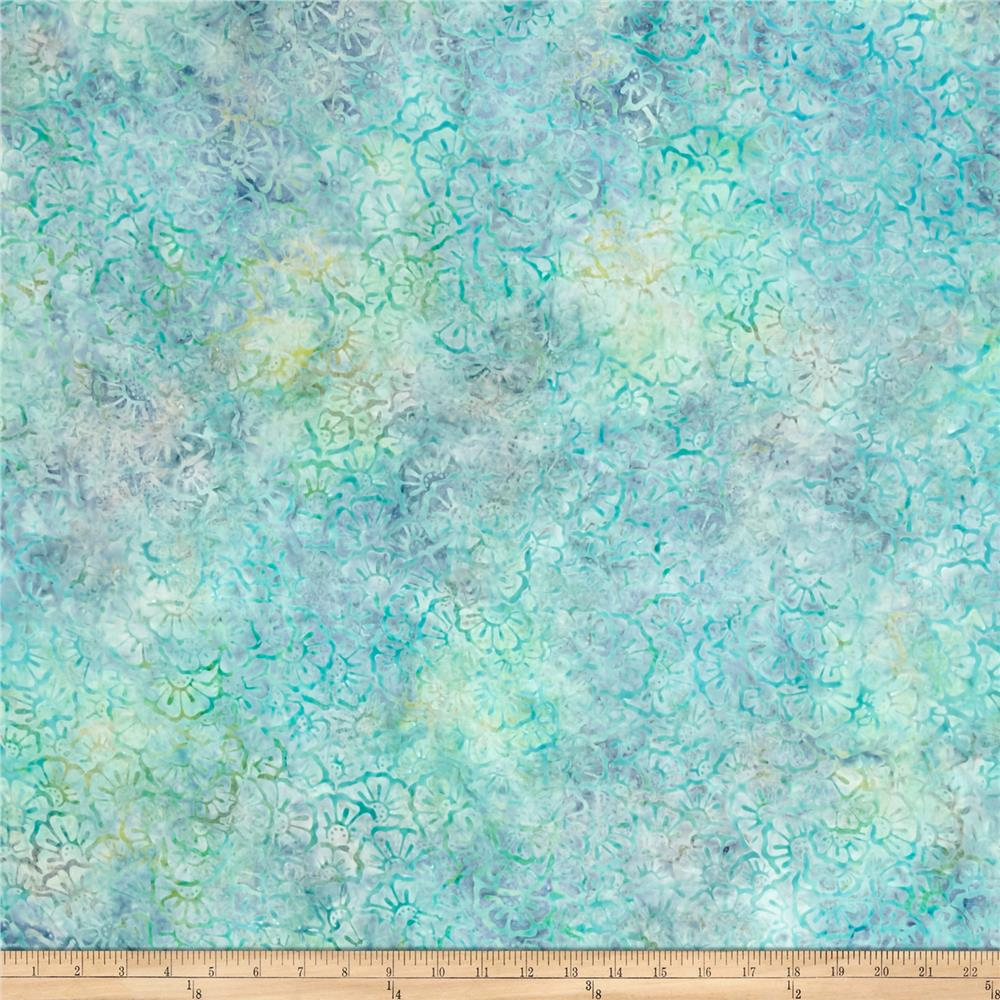 Wilmington Batiks Stacked Floral Light Blue