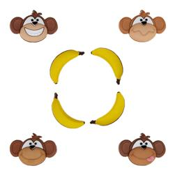 Dress It Up Embellishment Buttons Monkey See Monkey