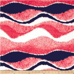 ITY Knit Waves Navy Coral