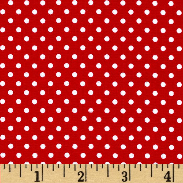 Moda Dottie Small Dots Red