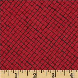 Loralie Lady In Red Trellis Red/Black