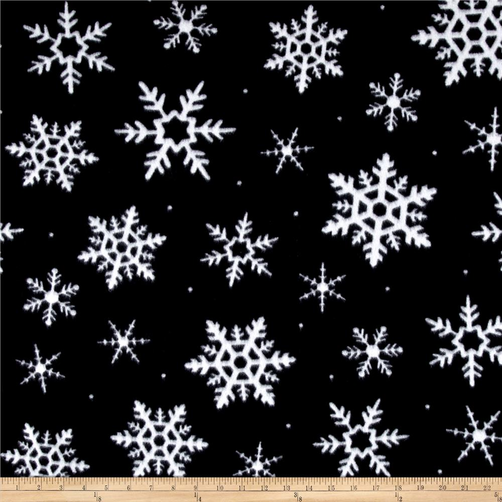 Festive Fleece Snowflake Toss Black