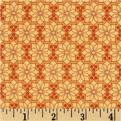 The Color Collection Daisy Plaid Orange Fabric