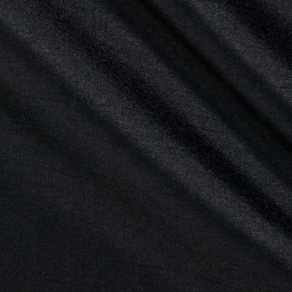 120'' Faux Dupioni Black Fabric