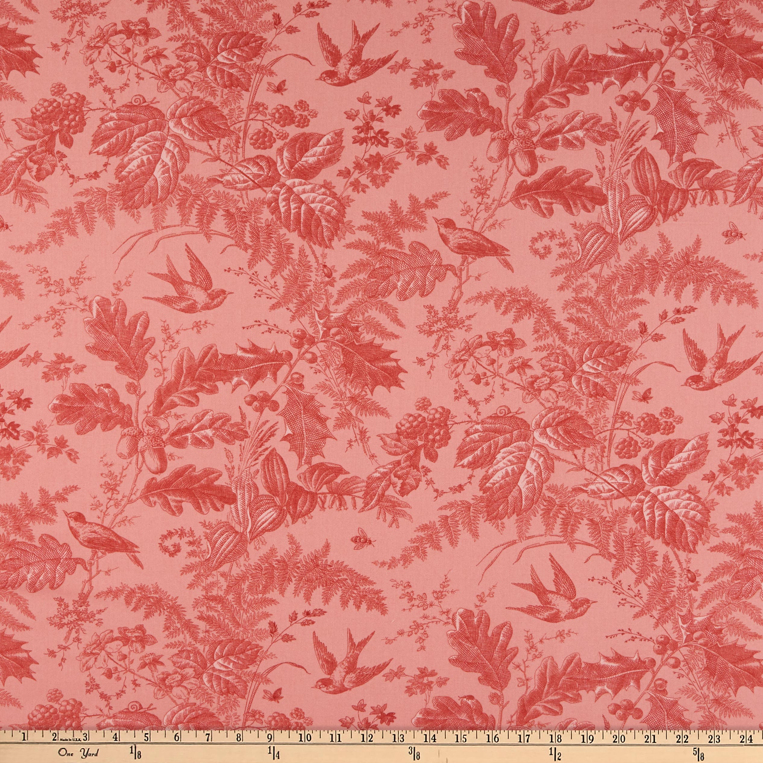 Andover Braveheart Toile Rose Fabric