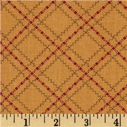Moda Sweet Pea Zig Zag Plaid Gold