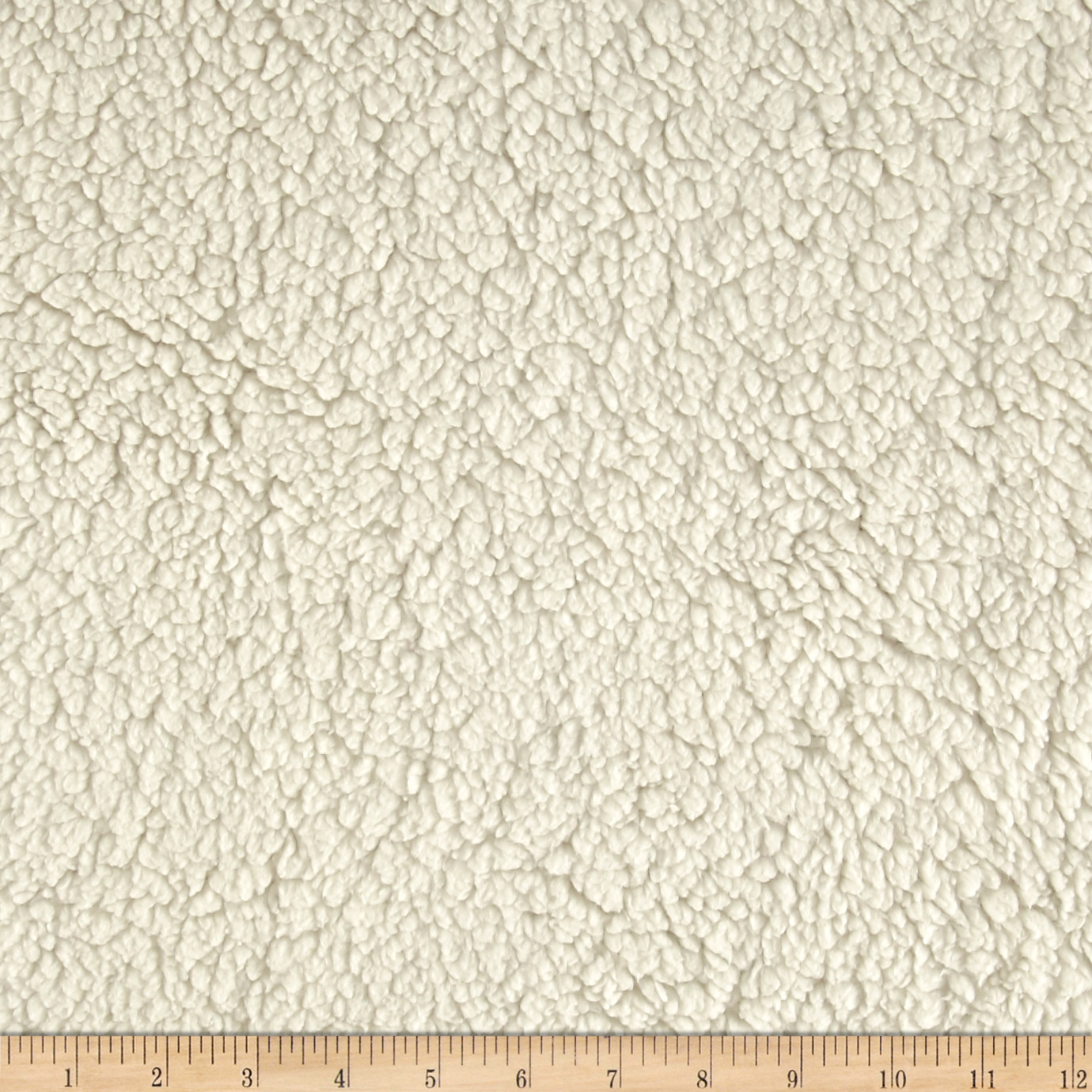Minky Sherpa Cuddle Ivory Fabric