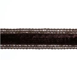 1 3/8'' Velvet Lace Trim Brown