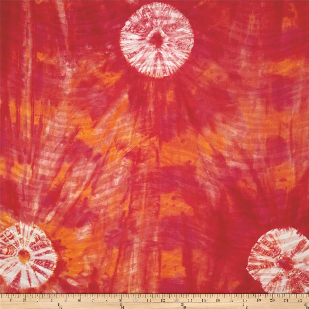 Indian Batik Tie Dye Skin Red/Orange