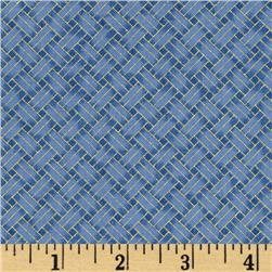 Oriental Traditions Metallic Trellis Weave Indigo