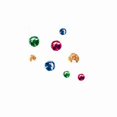 Jewel Tone Mix Crystal Compact 384/pcs