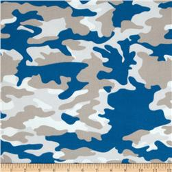 Riley Blake Military Max Flannel Camo Blue