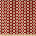 Moda Christmas Countdown Poinsettia Berry Red