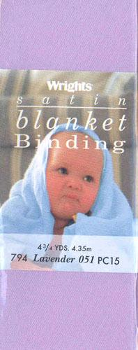 2'' Satin Blanket Binding Lavender