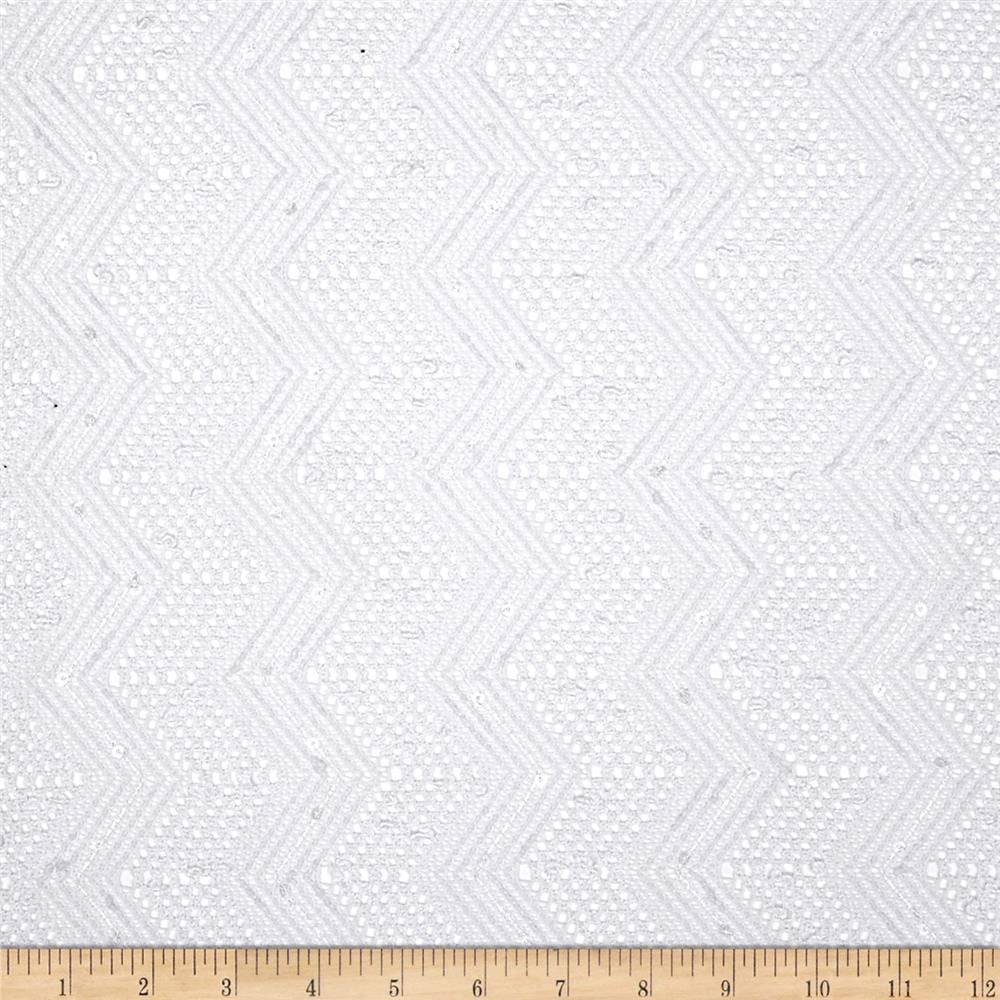 Seaside Lace Chevron White