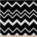 Stretch Poly Spandex Jersey Knit Black and White Oversized Chevron