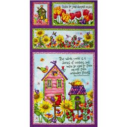 Birdhouse Gardens 24 In. Panel Multi