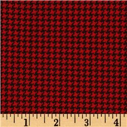 Cozies Flannel Christmas Herringbone Red