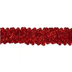 Team Spirit #66 Sequin Trim Red Spot