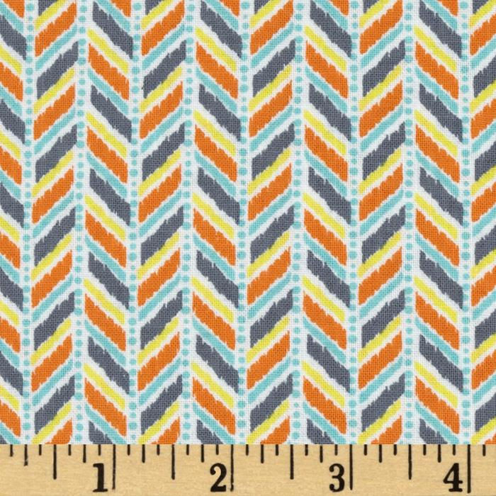 Caravan Dreams Herringbone Orange
