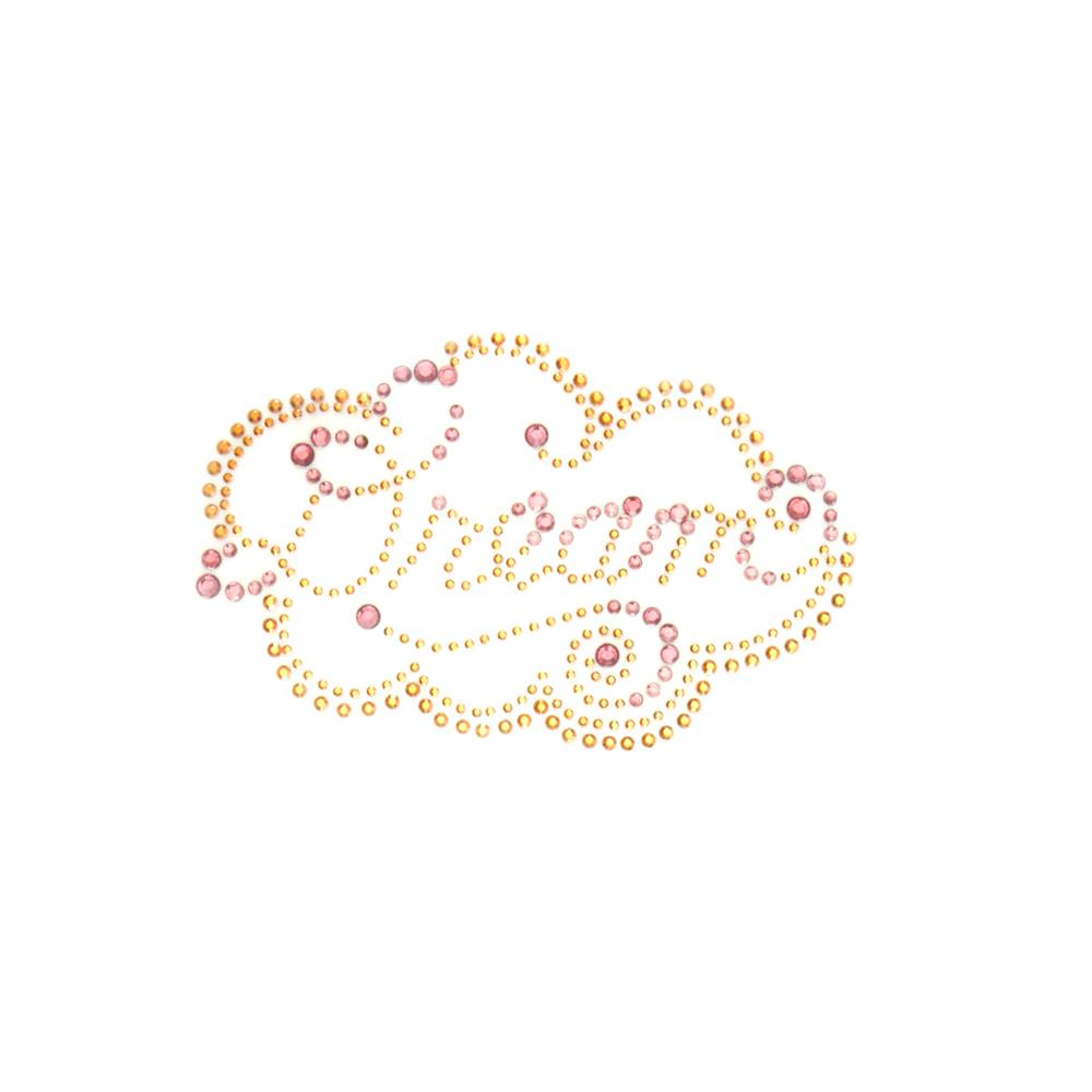 Dream Rhinestud Applique Gold/Peach