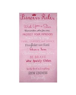 "Timeless Treasures Princess Rules 24"" Panel Pink"