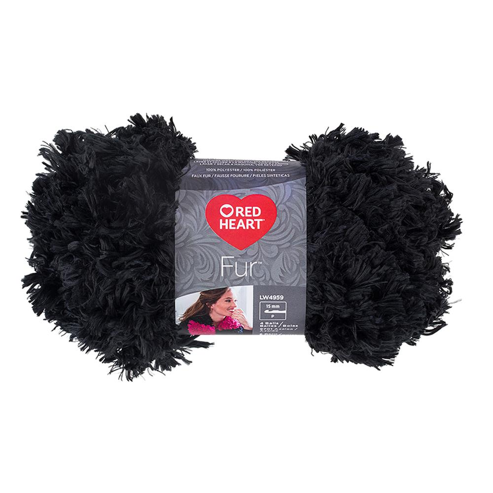 Red Heart Fur Yarn, Slate