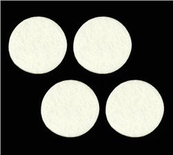 Craft Felt Circle Pack 2'' White