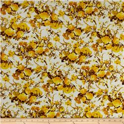 Peachskin Floral Yellow