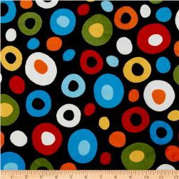 Celebrate Seuss! Minky Cuddle Wonky Dots Black