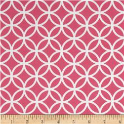 Cozy Cotton Flannel Circle Plaid Hot Pink Fabric