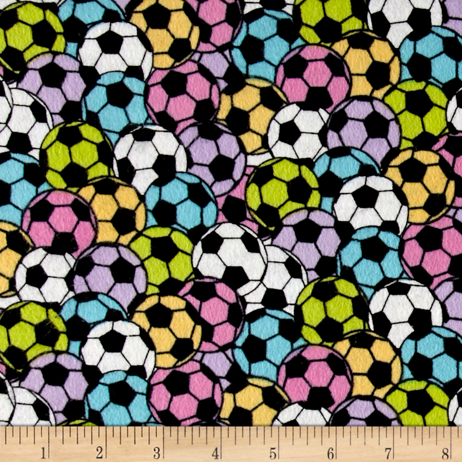 Soccer Stadium Flannel Pastel Fabric by Newcastle in USA