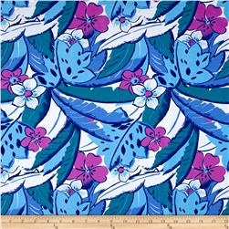 Hawaiian Tropical Fun Floral Activewear Blue