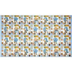 Holly Hobbie Flannel Patch Panel Blue