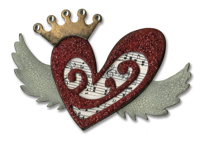 Sizzix Tim Holtz Bigz Die Heart Wings