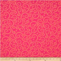 Hip Happier Swirls Hot Pink