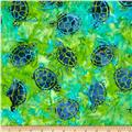 Michael Miller Batik Sea Turtles Sea