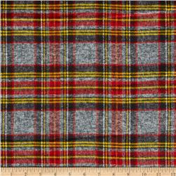 Windstar Yarn Dyed Flannel Plaid Gray/Red