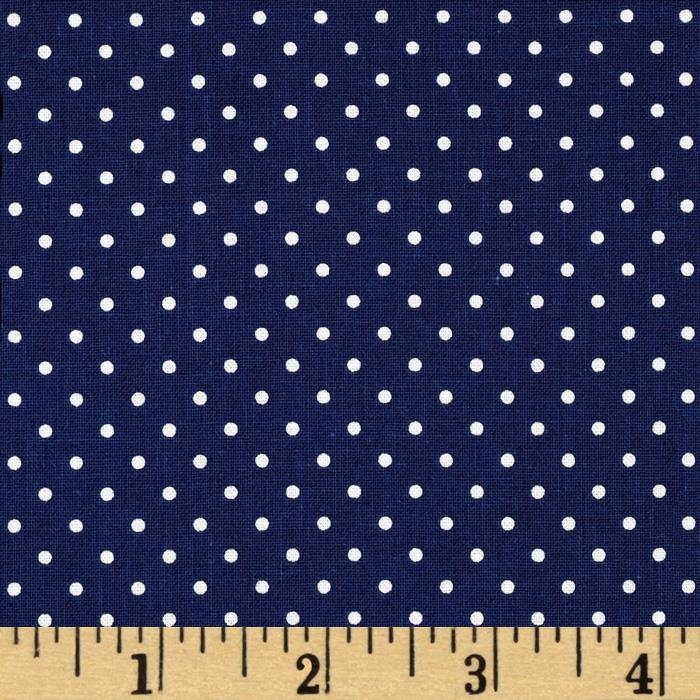 Riley Blake Swiss & Dots Navy/White