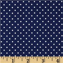 Riley Blake Swiss Dots Navy/White