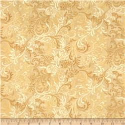 "Essentials 108"" Wide Quilt Back Flourish Tan"