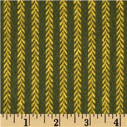 Primo Plaids Christmas Flannel Vine Stripe Green Fabric