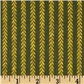 Primo Plaids Christmas Flannel Vine Stripe Green