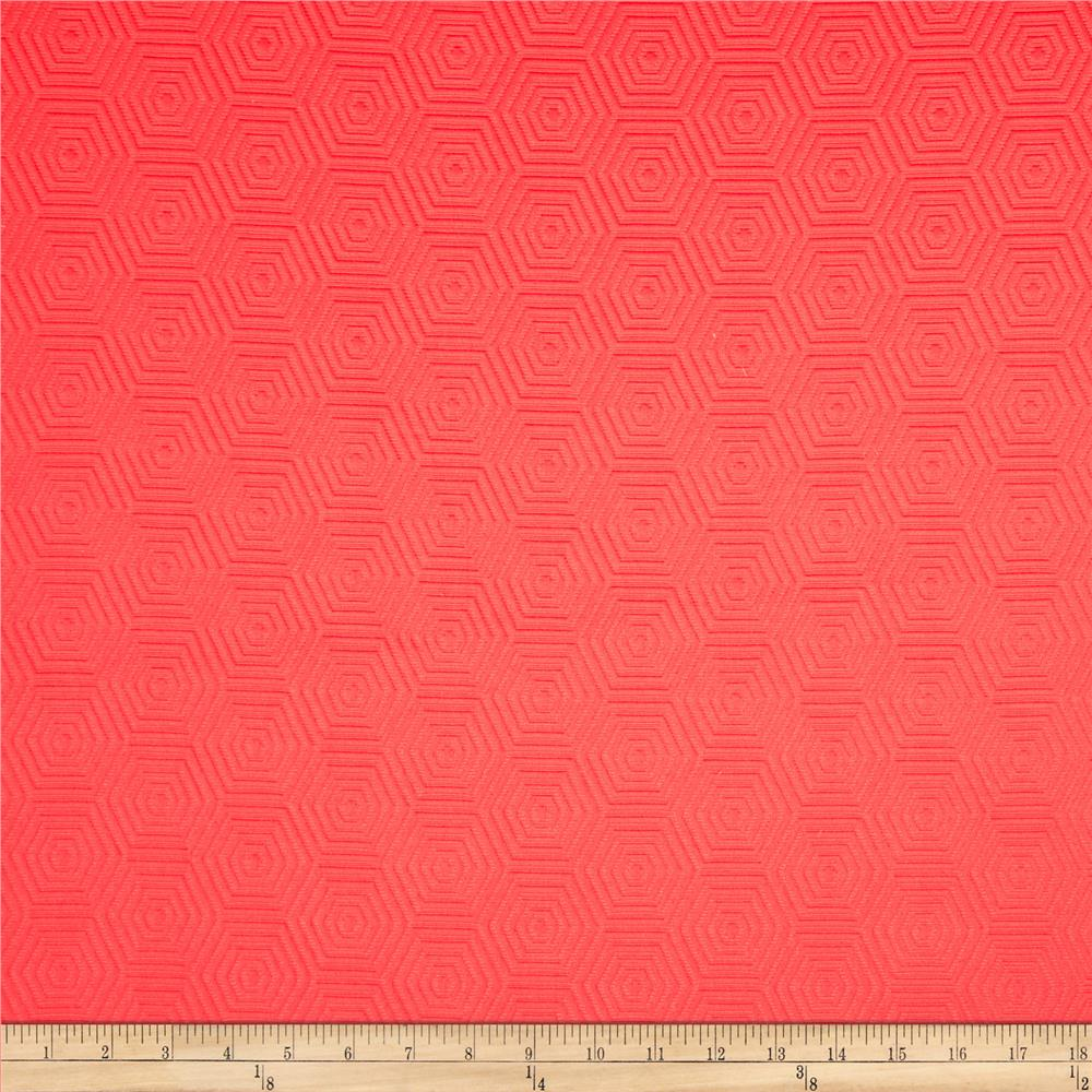 HGTV HOME Hex Appeal Solid Jacquard Guava