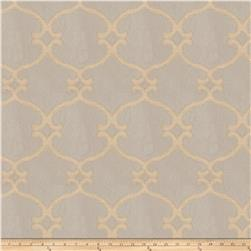 Fabricut Snipes Lattice Faux Silk Soapstone